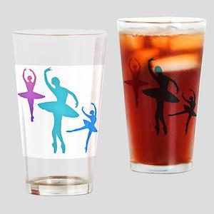 Ballerina Sillouettes Drinking Glass