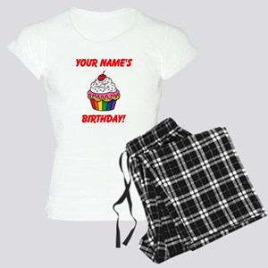 CUSTOM Your Names Birthday Cupcake Pajamas
