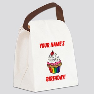 CUSTOM Your Names Birthday Cupcake Canvas Lunch Ba