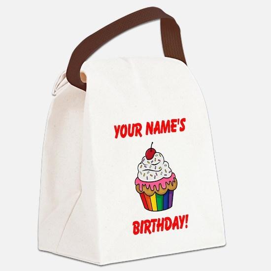 CUSTOM Your Names Birthday Cupcake Canvas Lunch Ba