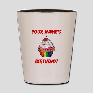 CUSTOM Your Names Birthday Cupcake Shot Glass