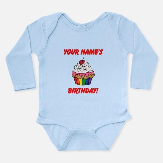CUSTOM Your Names Birthday Cupcake Body Suit