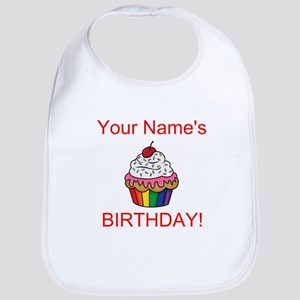 CUSTOM Your Names Birthday Cupcake Bib
