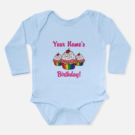 CUSTOM Your Names Birthday Cupcakes Body Suit