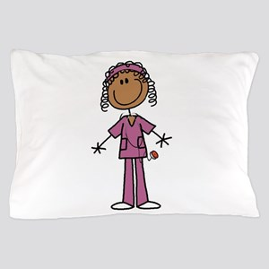 African American Female Nurse Pillow Case