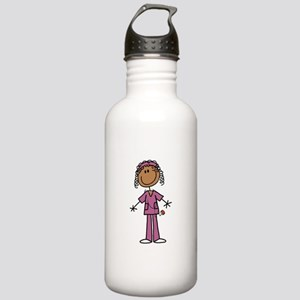 African American Femal Stainless Water Bottle 1.0L
