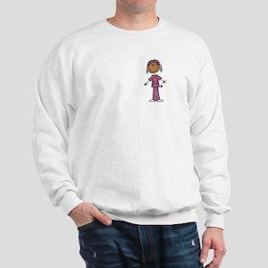 African American Female Nurse Sweatshirt