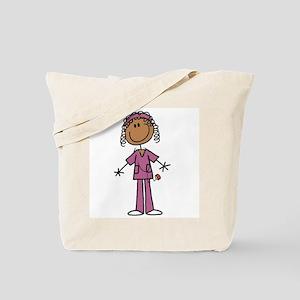 African American Female Nurse Tote Bag