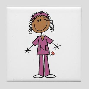 African American Female Nurse Tile Coaster