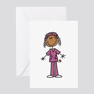 African American Female Nurse Greeting Card