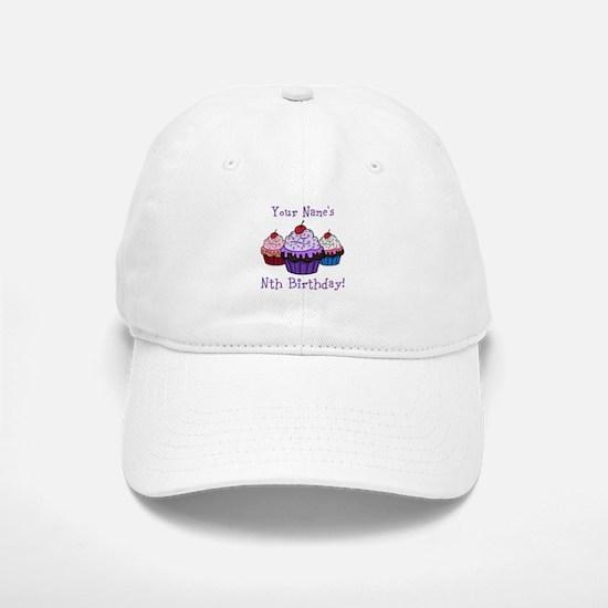 CUSTOM Your Names Nth Birthday! Cupcakes Baseball