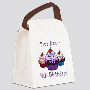 CUSTOM Your Names Nth Birthday! Cupcakes Canvas Lu