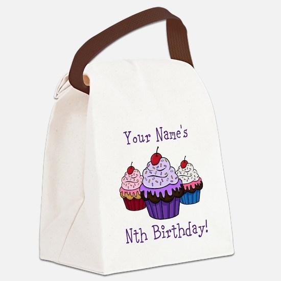 CUSTOM Your Names Nth Birthday! Cupcakes Canvas Lu