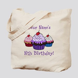 CUSTOM Your Names Nth Birthday! Cupcakes Tote Bag