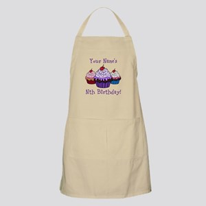 CUSTOM Your Names Nth Birthday! Cupcakes Apron