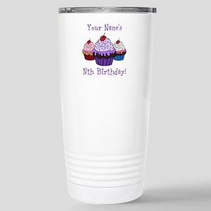 CUSTOM Your Names Nth Birthday! Cupcakes Travel Mu