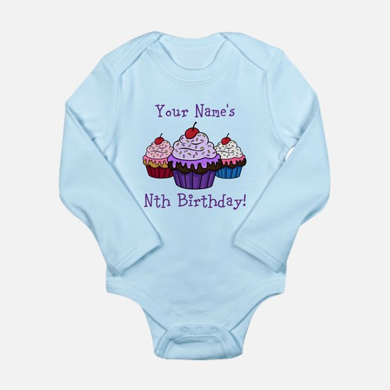 CUSTOM Your Names Nth Birthday! Cupcakes Body Suit