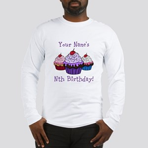 CUSTOM Your Names Nth Birthday! Cupcakes Long Slee
