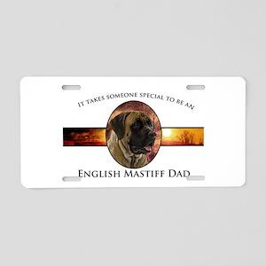 Mastiff Dad Aluminum License Plate