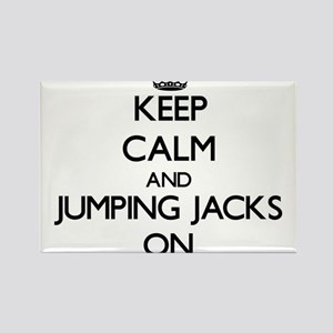 Keep Calm and Jumping Jacks ON Magnets