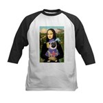 Mona & Sir Pug Kids Baseball Jersey