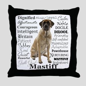 Mastiff Traits Throw Pillow