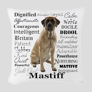 Mastiff Traits Woven Throw Pillow