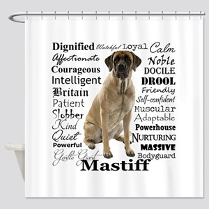Mastiff Traits Shower Curtain