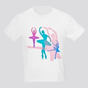 Pretty Dancing Ballerinas Kids Light T-Shirt
