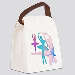 Pretty Dancing Ballerinas Canvas Lunch Bag