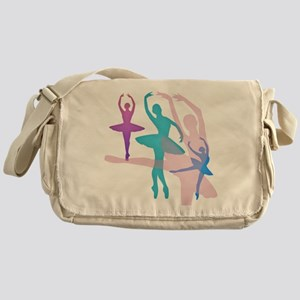 Pretty Dancing Ballerinas Messenger Bag