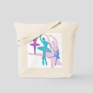 Pretty Dancing Ballerinas Tote Bag