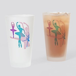 Pretty Dancing Ballerinas Drinking Glass