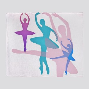 Pretty Dancing Ballerinas Throw Blanket