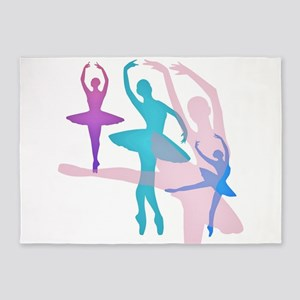 Pretty Dancing Ballerinas 5'x7'Area Rug