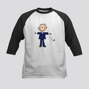 Male Nurse Kids Baseball Jersey
