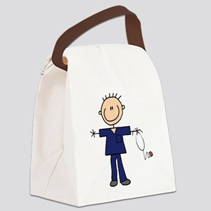 Male Nurse Canvas Lunch Bag
