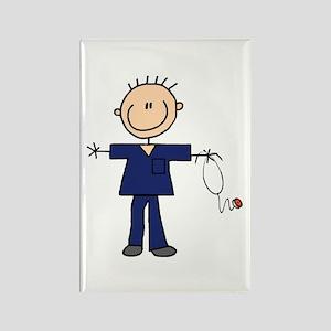 Male Nurse Rectangle Magnet
