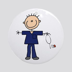 Male Nurse Ornament (Round)