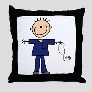 Male Nurse Throw Pillow