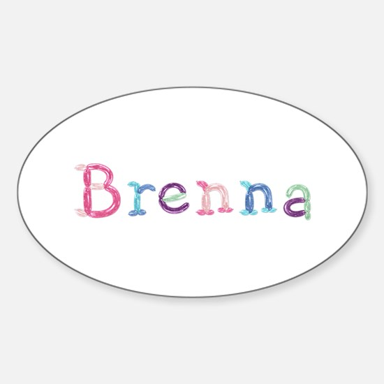 Brenna Princess Balloons Oval Decal