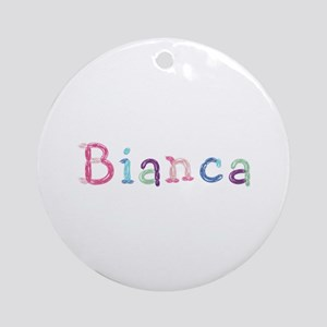 Bianca Princess Balloons Round Ornament