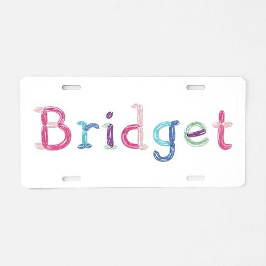 Bridget Princess Balloons Aluminum License Plate