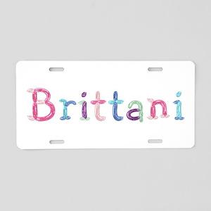 Brittani Princess Balloons Aluminum License Plate