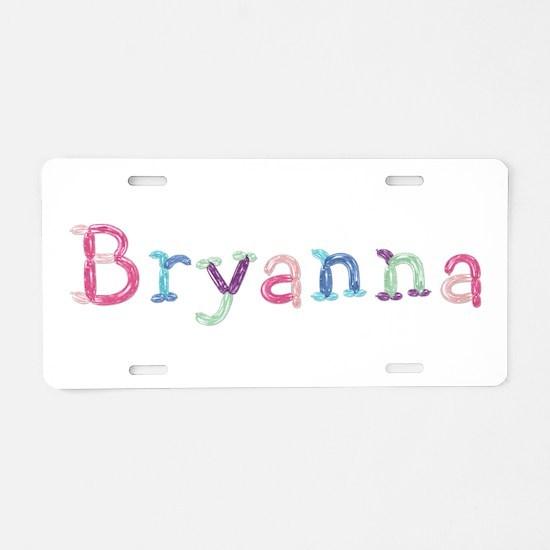 Bryanna Princess Balloons Aluminum License Plate