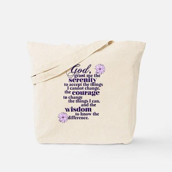 Serenity Prayer Tote Bag