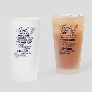 Serenity Prayer Drinking Glass