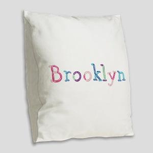 Brooklyn Princess Balloons Burlap Throw Pillow