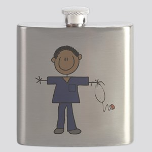 African American Male Nurse Flask