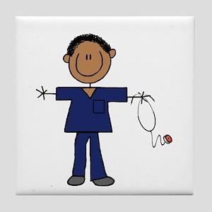 African American Male Nurse Tile Coaster